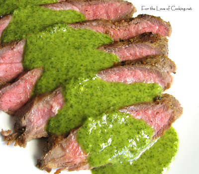 Flank Steak with Chimichurri Sauce | For the Love of Cooking