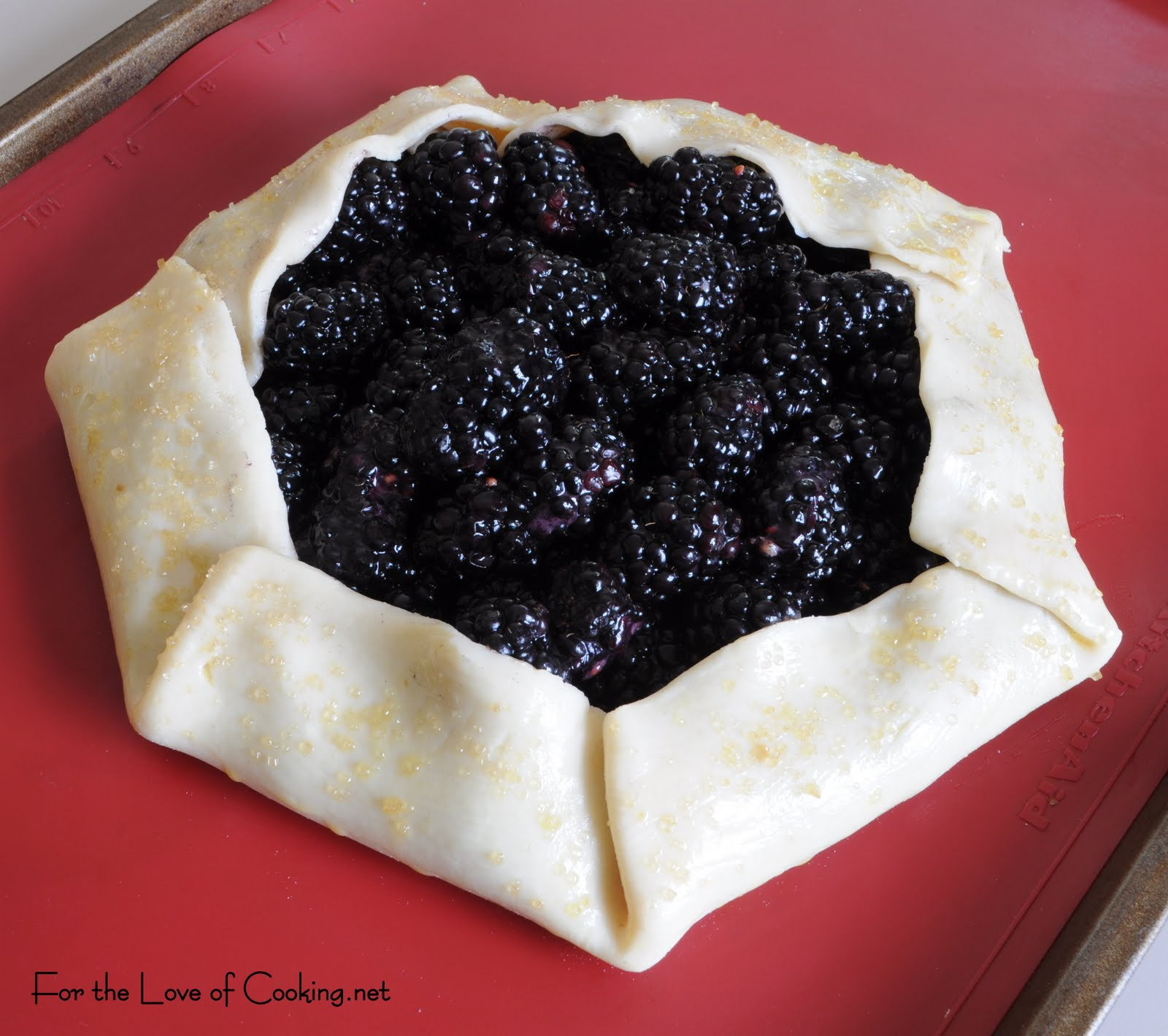 Strawberry Galette With Homemade Vanilla Whipped Cream Recipe ...