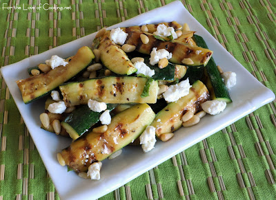 Grilled Zucchini Spears with Lemon Vinaigrette
