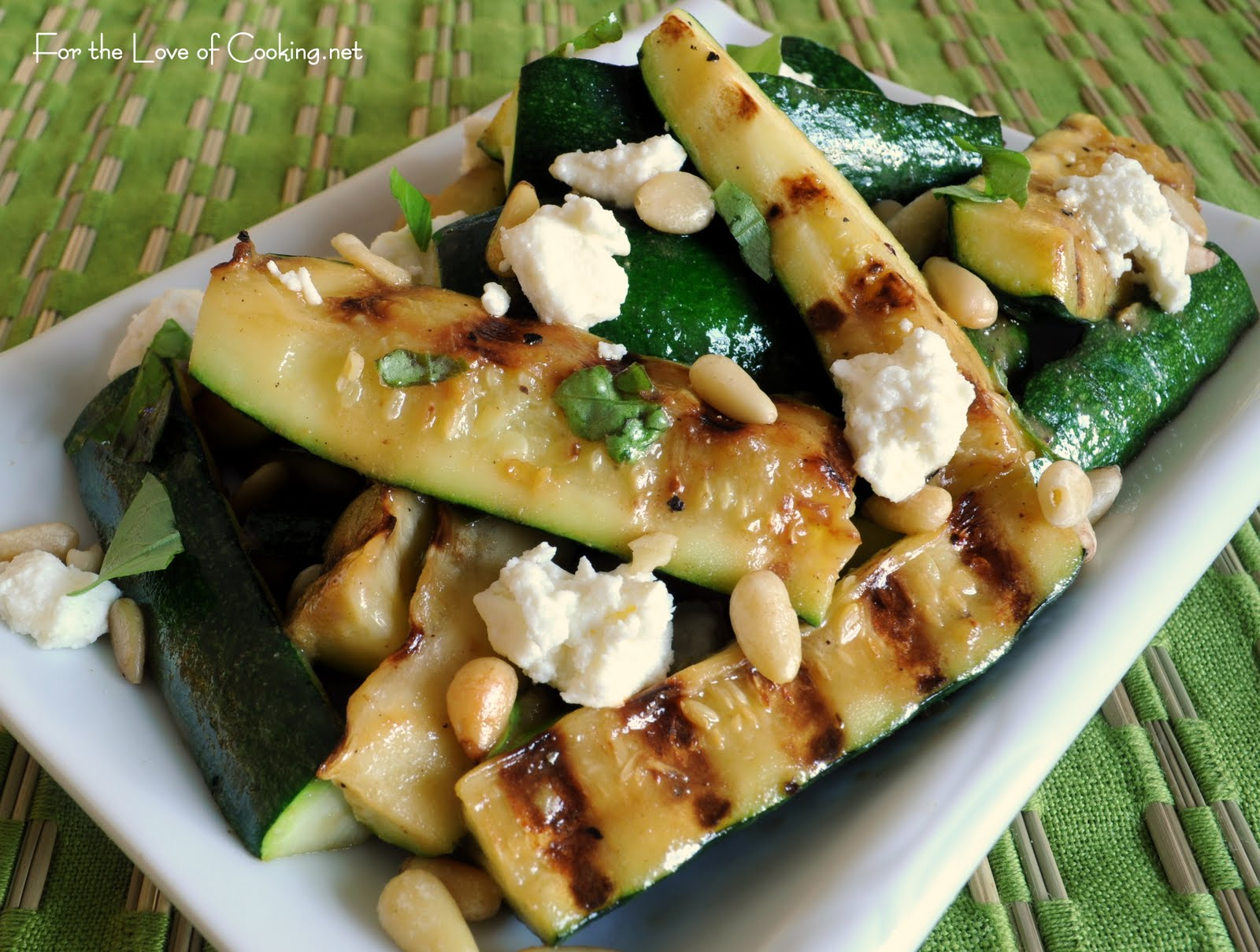 ... the Love of Cooking: Grilled Zucchini Spears with Lemon Vinaigrette