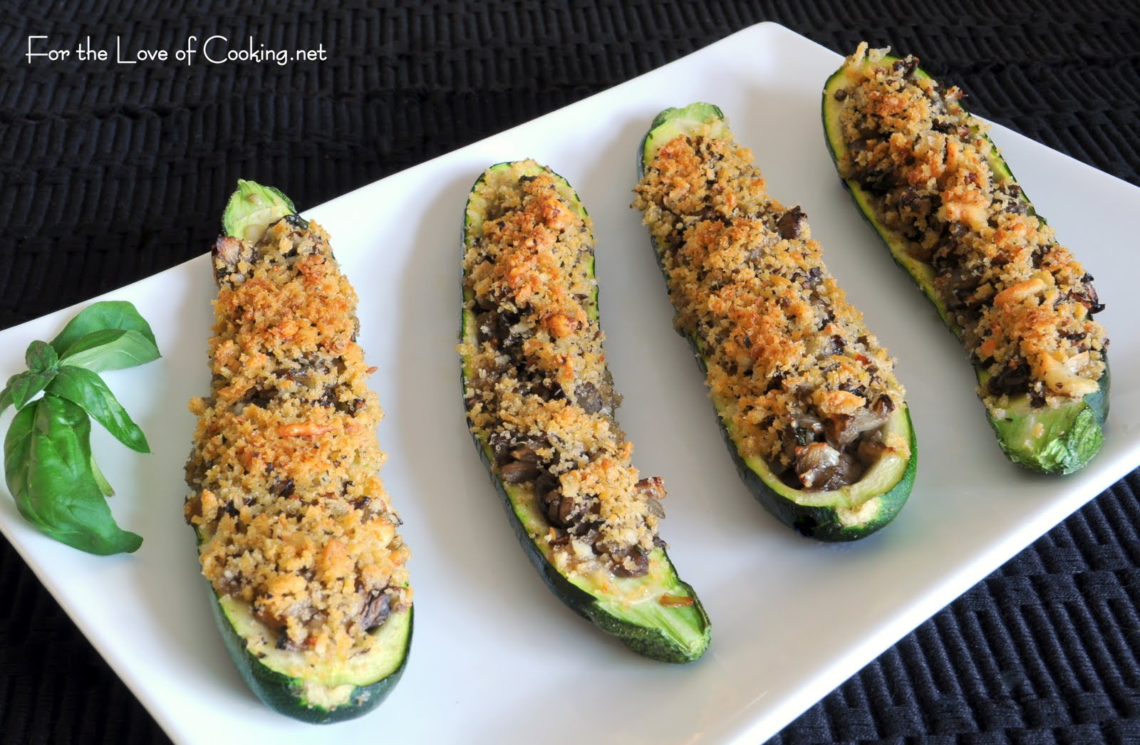 Vegetarian Stuffed Zucchini With Parmesan Panko Recipes — Dishmaps