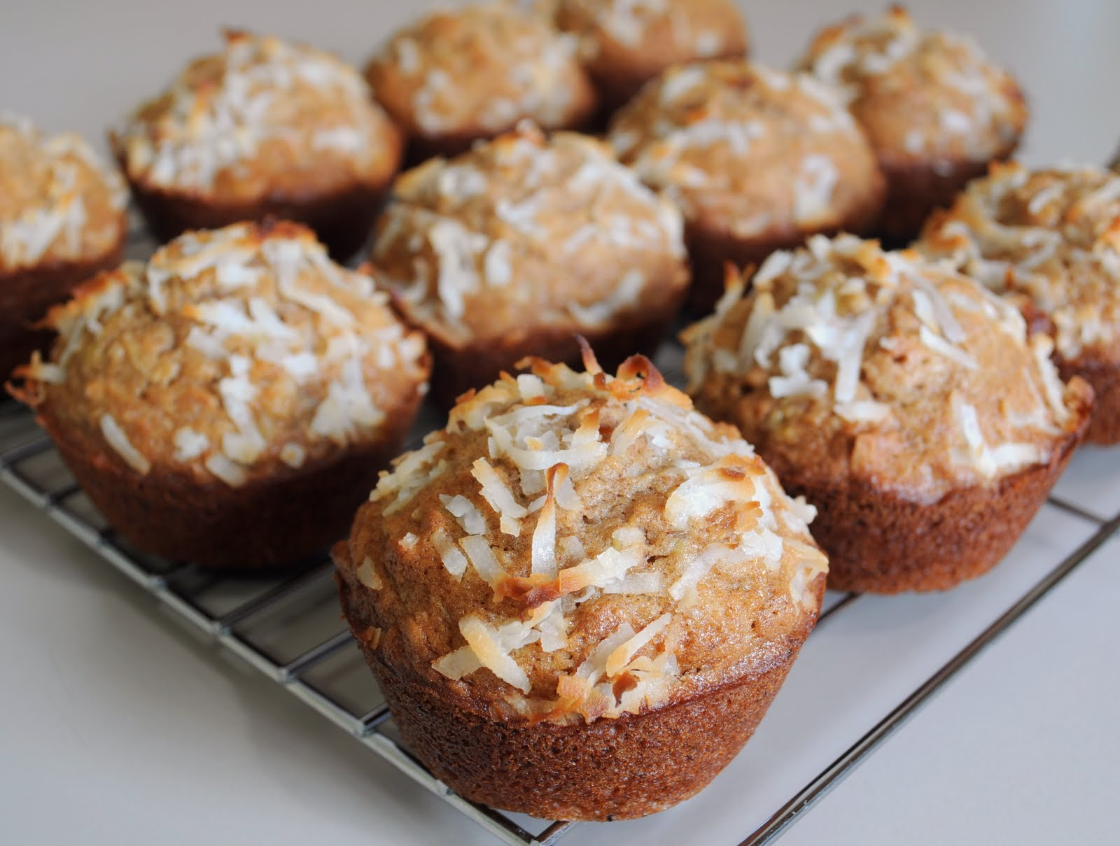 Banana, Coconut, and Pineapple Muffins | For the Love of Cooking