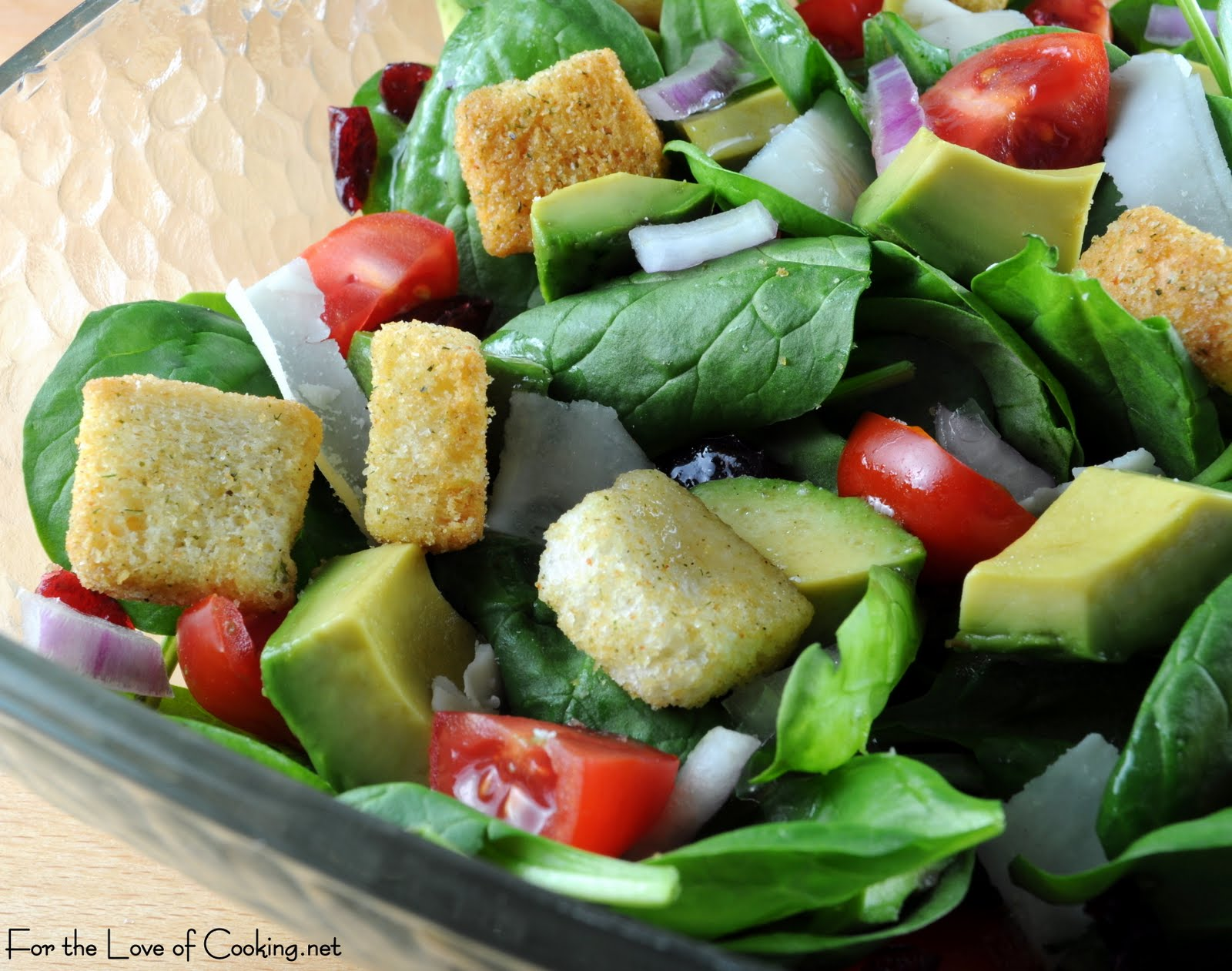 Spinach and Avocado Salad | For the Love of Cooking