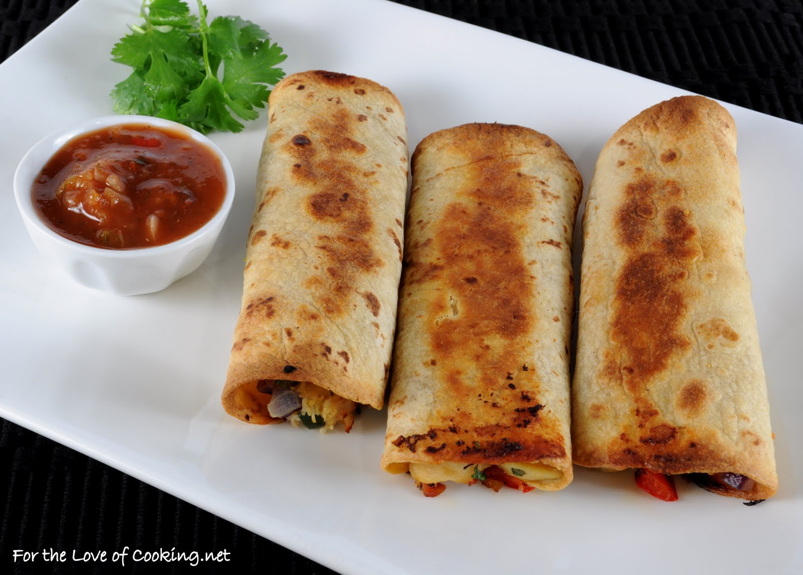 Baked Chicken and Sharp Cheddar Taquitos | For the Love of Cooking