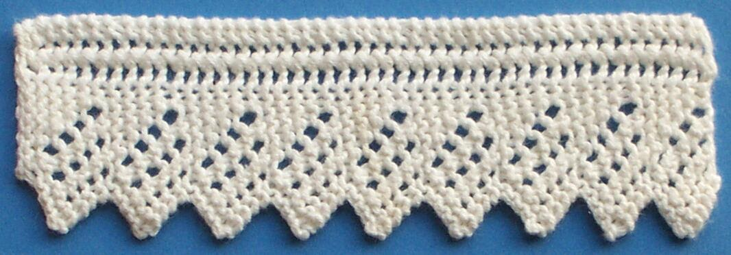 Knitting Pattern Notation : 1884 Knitted Lace Sample Book: 1. Knitted Edging