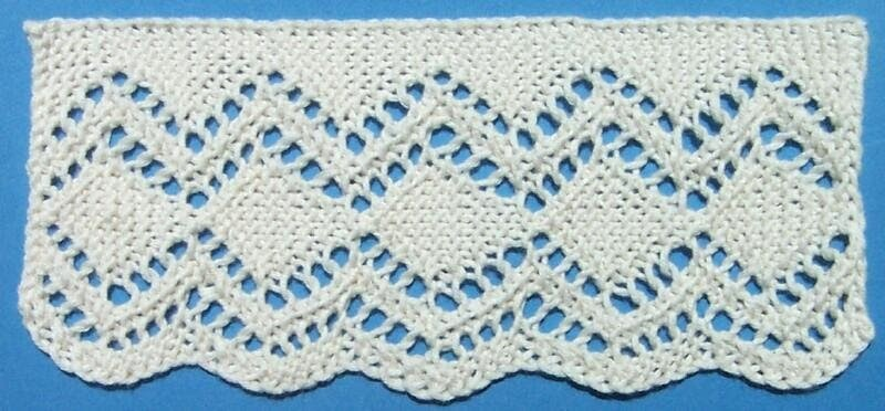 1884 Knitted Lace Sample Book 29 Smyrna Lace