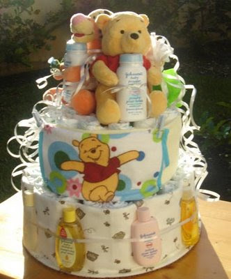 winnie the pooh and tiger too diaper cake