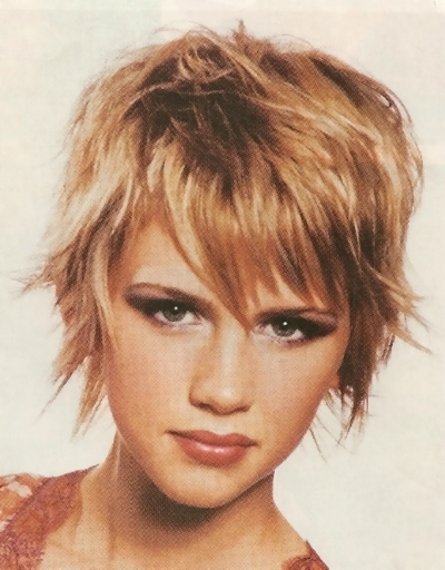 Layered and Bangs hairstyle short hairstyle with bangs