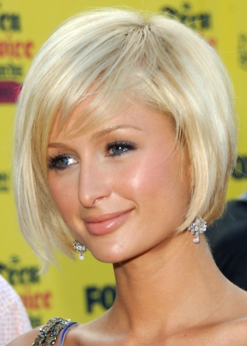 The sweeping fringe. Jemma Merna 2009 Blonde Bob Short Hairstyle.