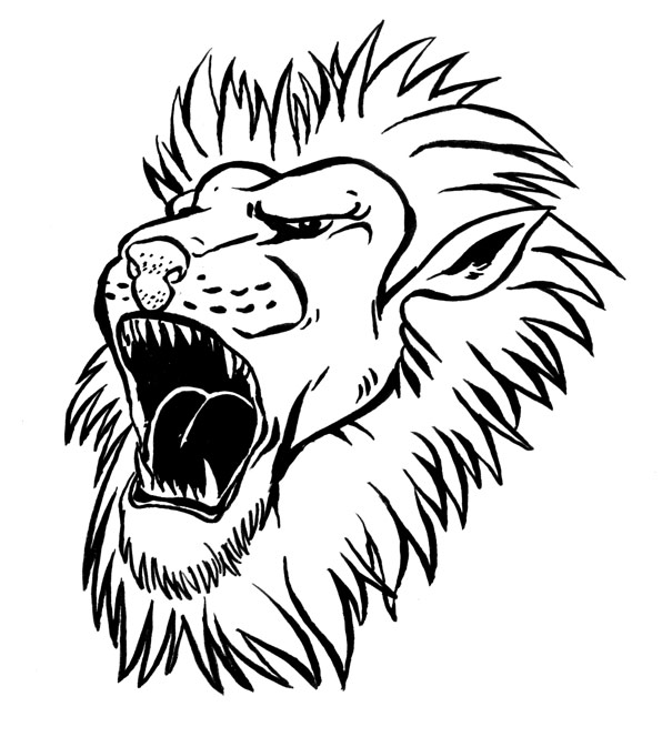 Line Drawing Lion Head : Draws er how to draw a lion s head