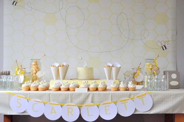 Bumble Bee Birthday Bash or Baby Shower Inspiration        http://www.frostedevents.com