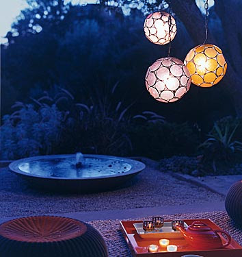 outdoor romatic lighting