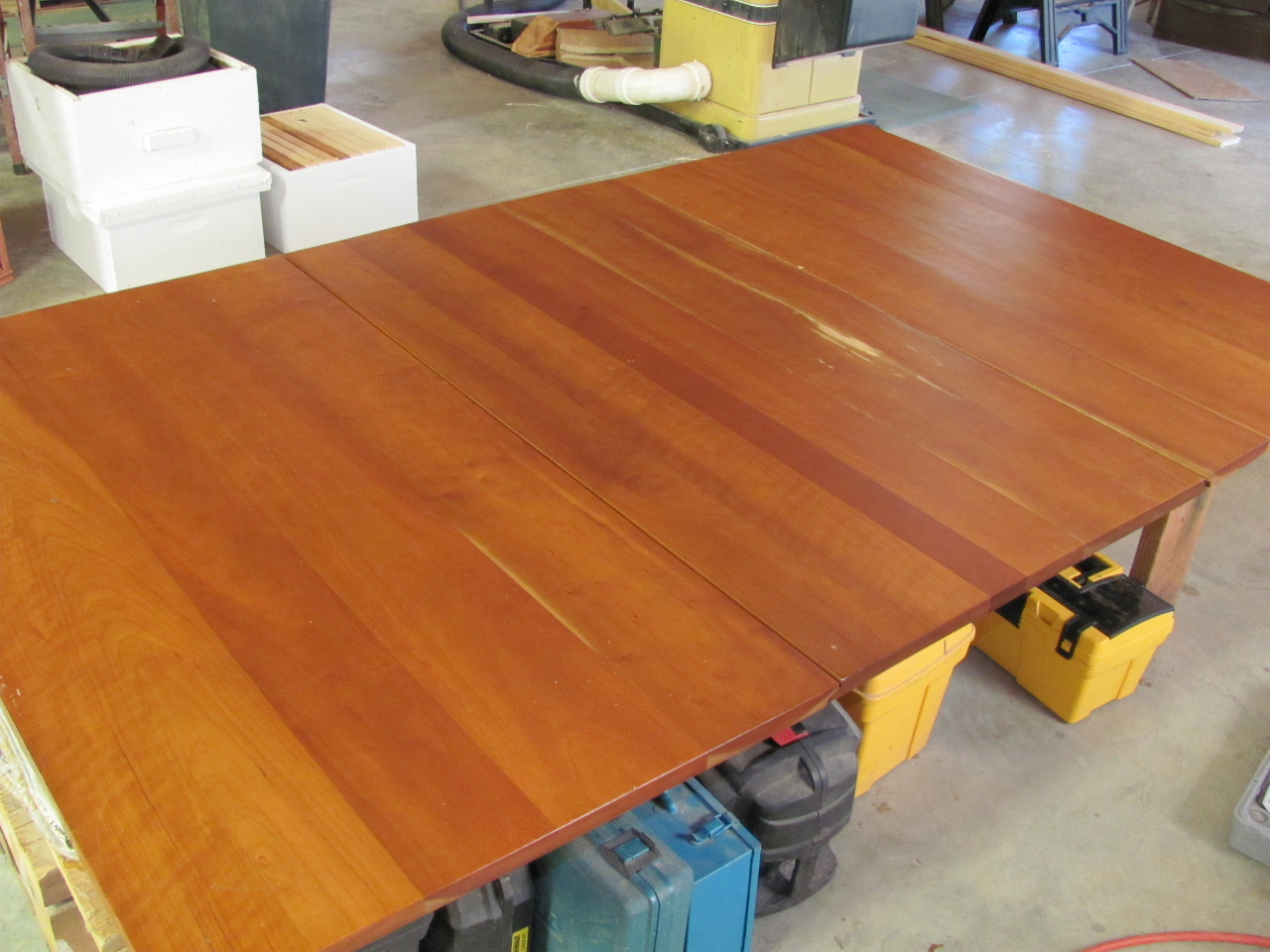 Wonderful image of Cherry drop leaf dining table with water damage to center section. I  with #AC521F color and 1280x960 pixels