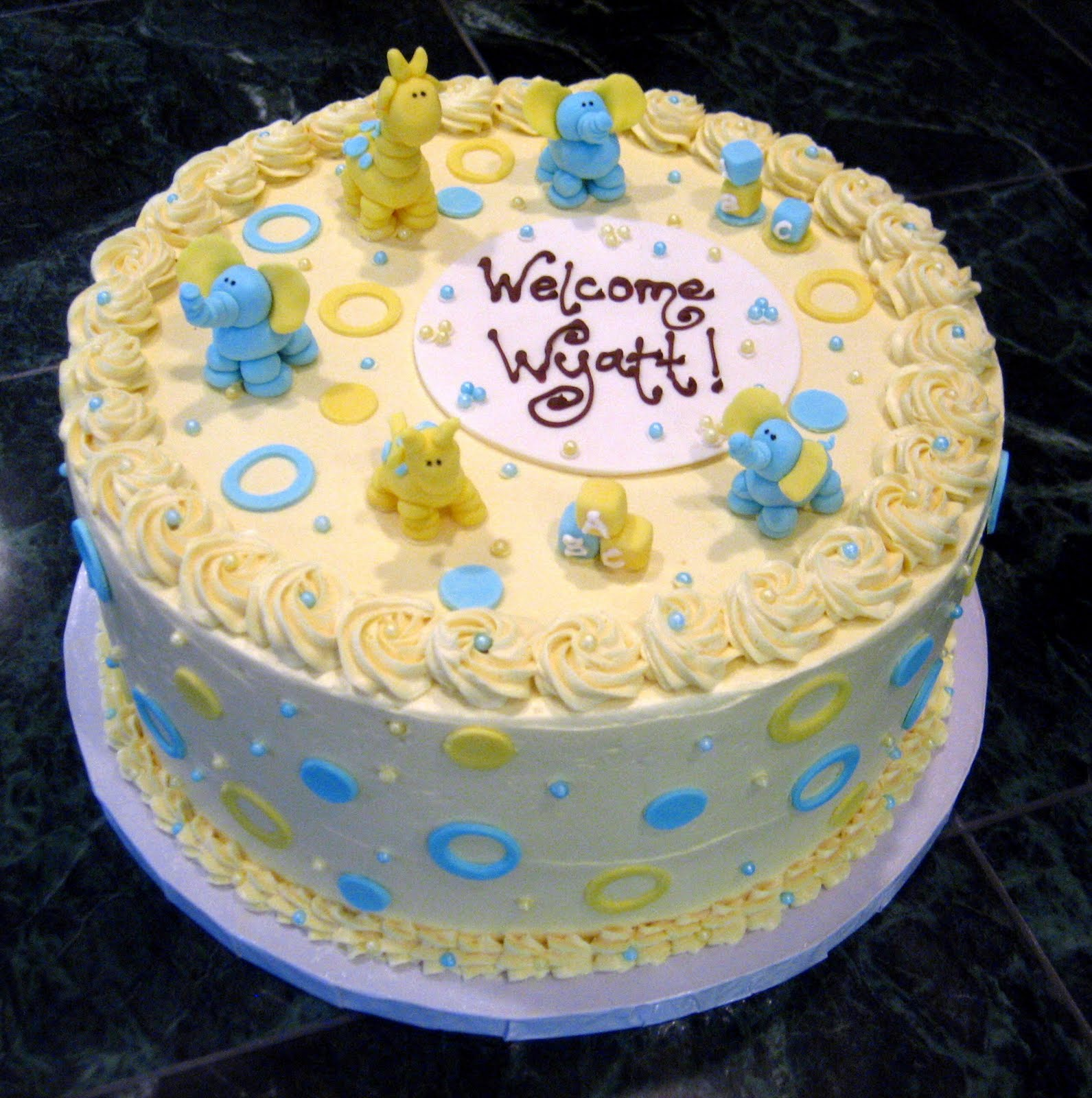 Easy Cake Decorating Baby Shower : Jillicious Discoveries: Baby Shower Cake