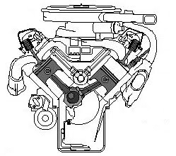 Di-section Of An Piston Engine