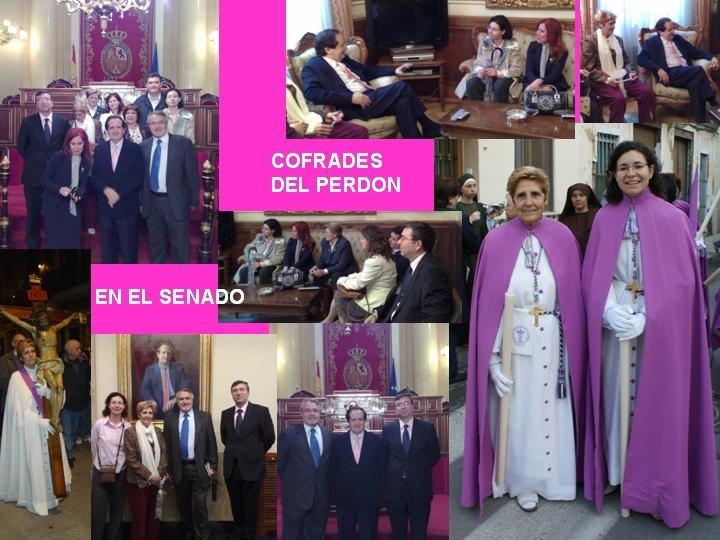 COFRADES DEL SANTISIMO CRISTO DEL PERDON EN EL SENADO CON SU VICEPRESIDENTE JUAN JOSE LUCAS