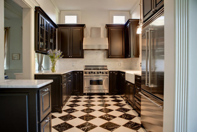 Stunning Galley Kitchen White Cabinets Dark Floors 650 x 435 · 89 kB · jpeg