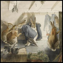 Rabbits&#39; Christmas Party.Beatrix Potter
