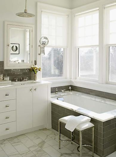 Gray And White Bathroom Stunning Content In A Cottage
