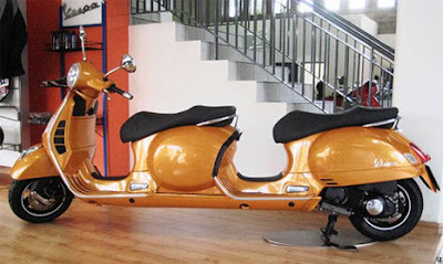 Modif Vespa Stretch Scooter concept rebuild