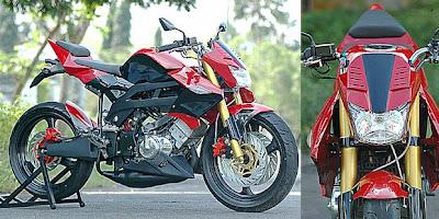 trend motor Modif Suzuki Satria FU Streetfighter style