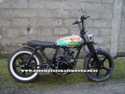 Modifikasi Motor H onda CB 100 - Garuda Jap Style by Hamman