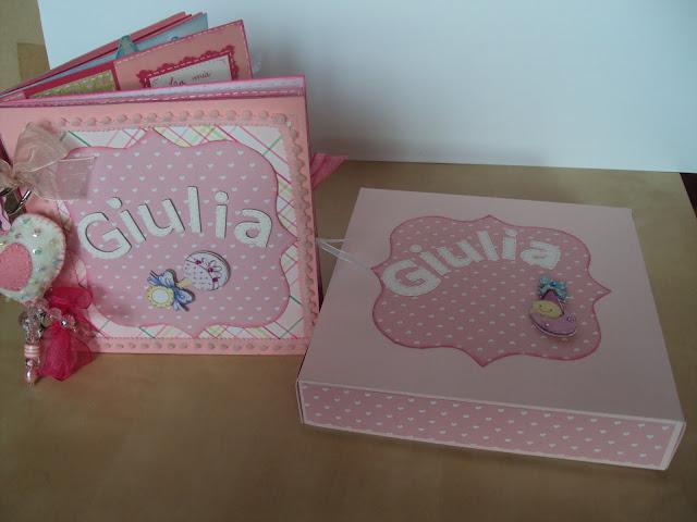 Álbum niña y caja