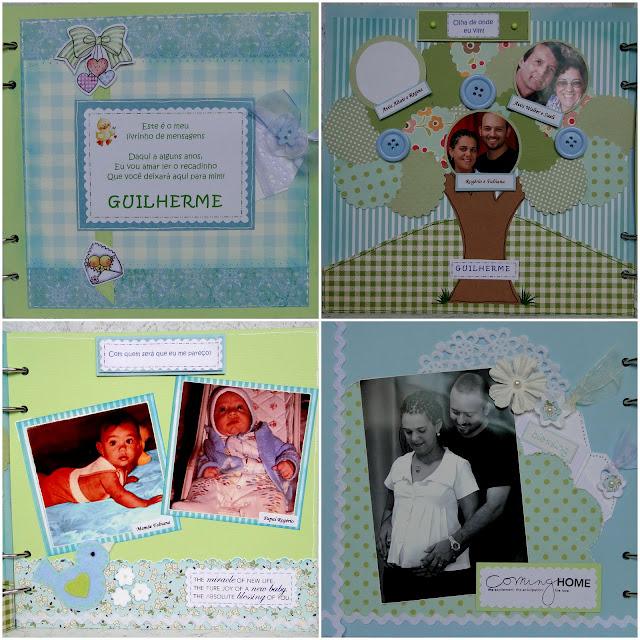 Álbum de Mensajes para nacimiento niño