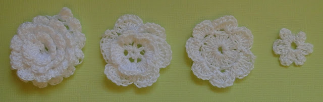flores en ganchillo para scrap