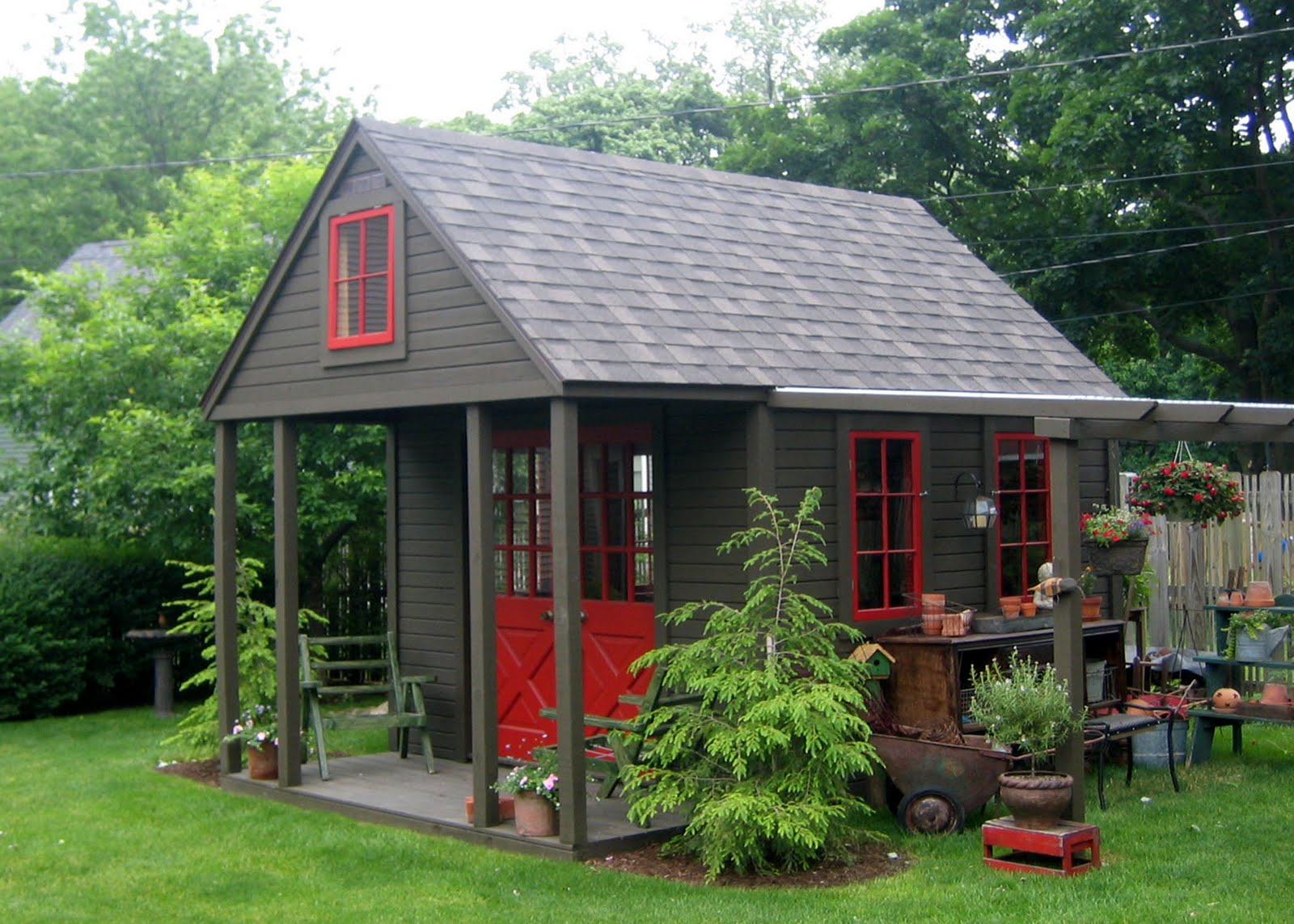 Pictures Of Backyard Garden Sheds :  Home and Garden Club GARDEN SHEDS, PORCHES, BACKYARD RETREATS