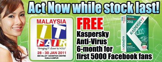 Malaysia IT Fair Bagikan Kaspersky Antivirus 2011 Gratis