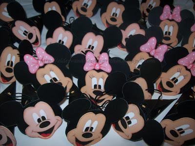 La Carita De Mickey Minnie Y El Lazo Son De Goma Eva Estan Pintados