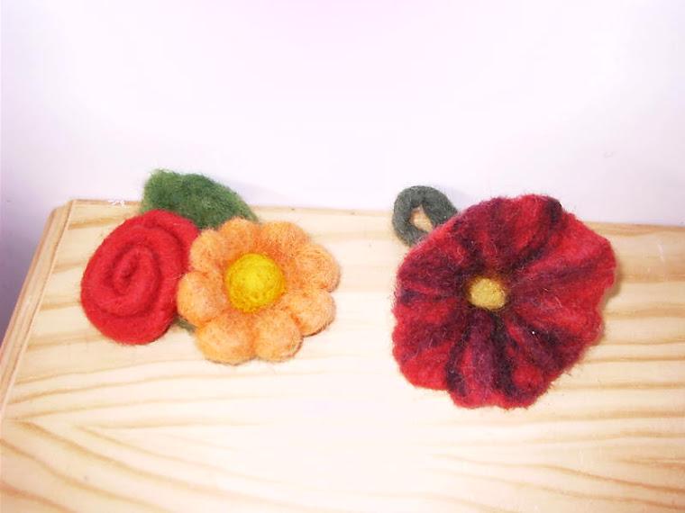 Manualidades flor de lana - Manualidades en lana ...