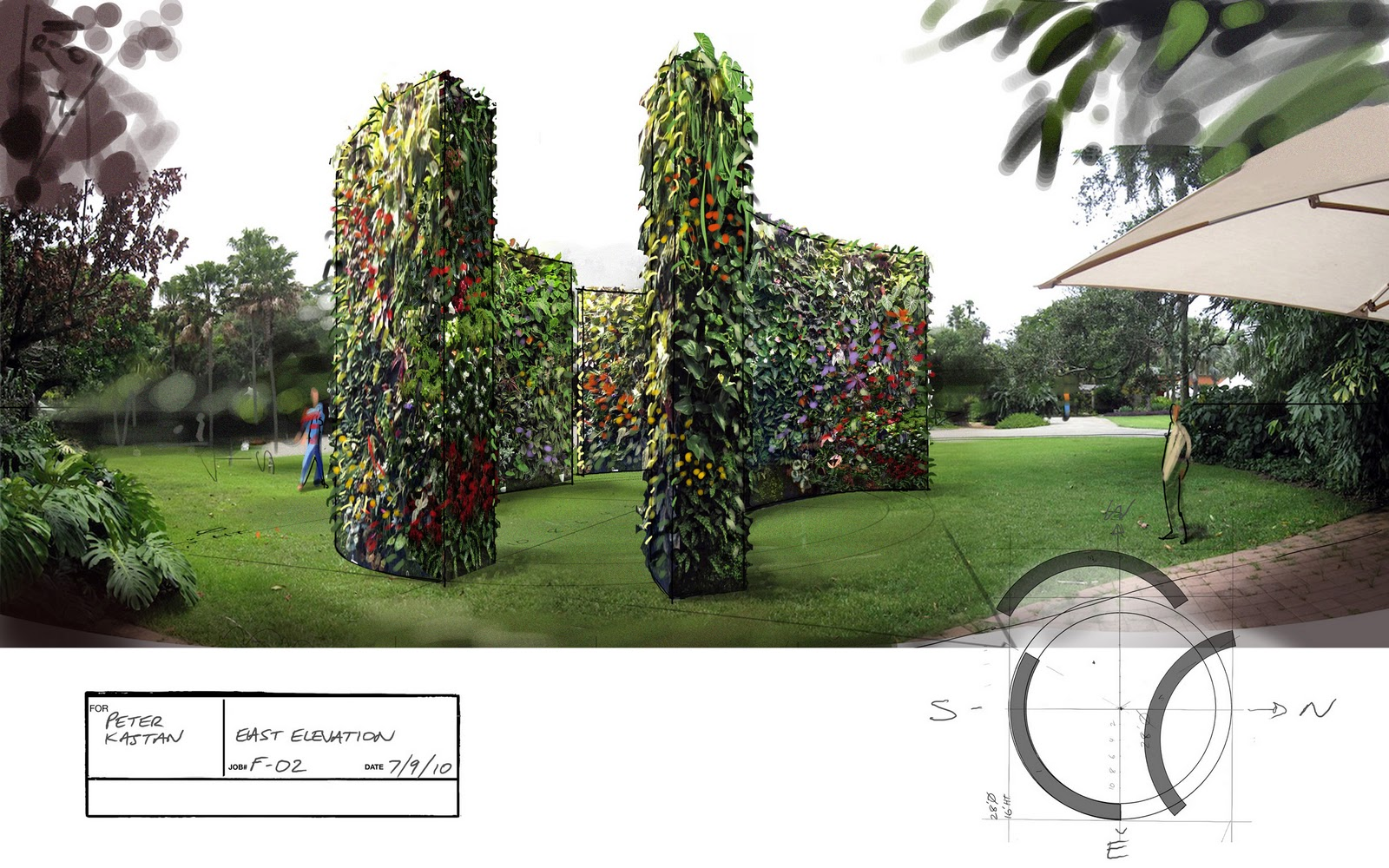 free standing vertical wall garden Free Standing Hydroponic Plant Wall Proposal for Park or