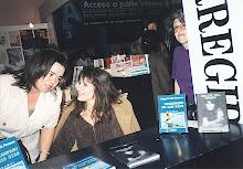 Con Silvia Pampin en la Feria.
