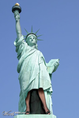 photoshop patung liberty