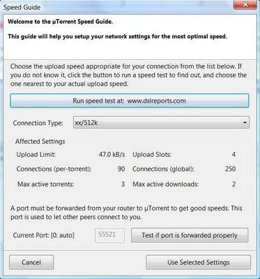 how to get best download speed utorrent