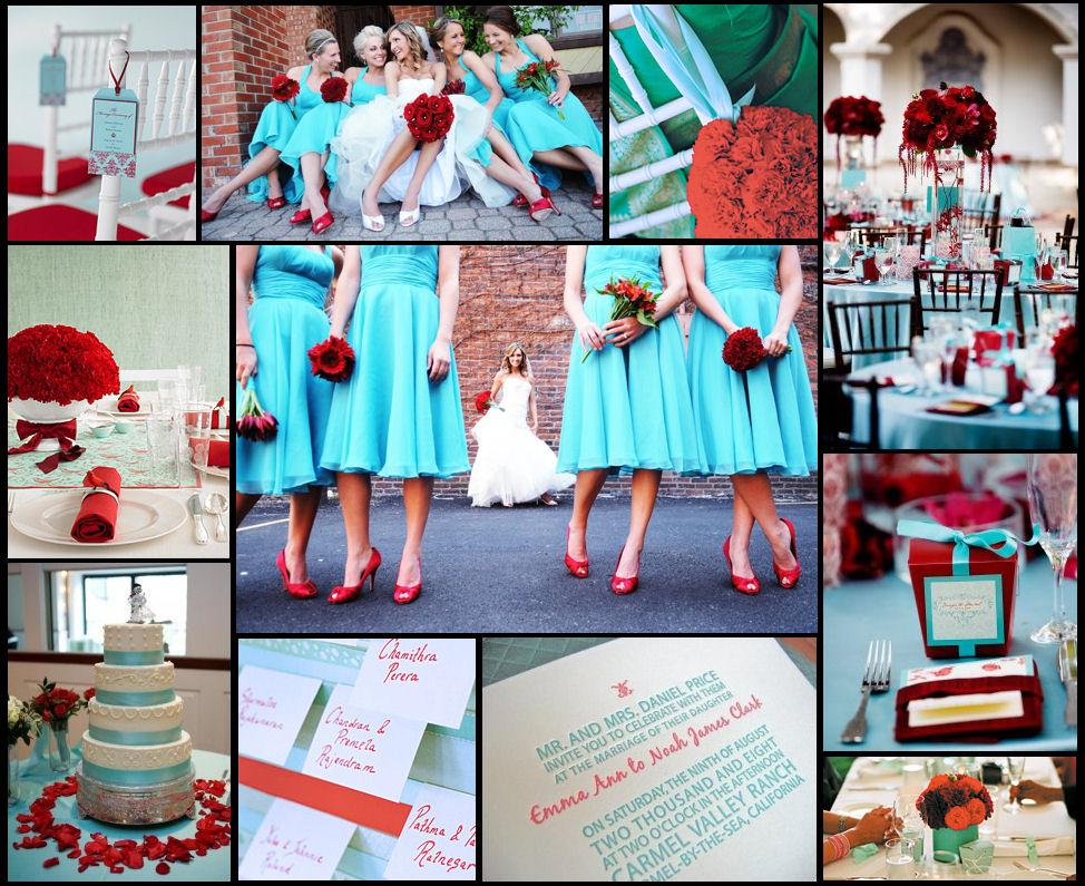 Aqua And Red Wedding Theme | Wedding Tips and Inspiration