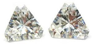 Loose Cubic Zirconia white color triangle shape stones China Wholesale and Supplier