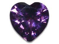 Cubic Zirconia amethyst heart stones