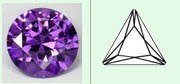 Cubic zirconia amethyst triangle shape aaa quality stone