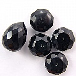 CZ Stones Black Color Faceted Beads China Wholesale and Supplier