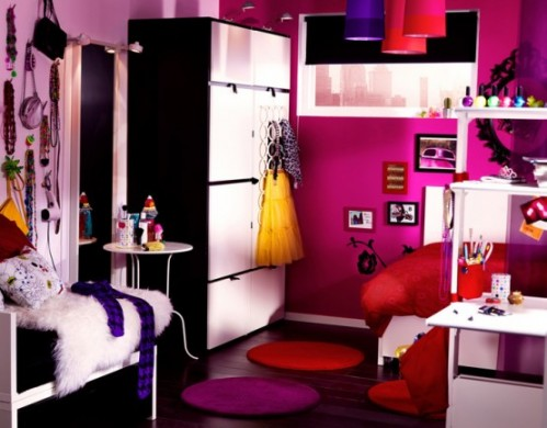 Rainbow the colours of india ikea 2010 unique bedroom designs - Cool teenage room ideas ...