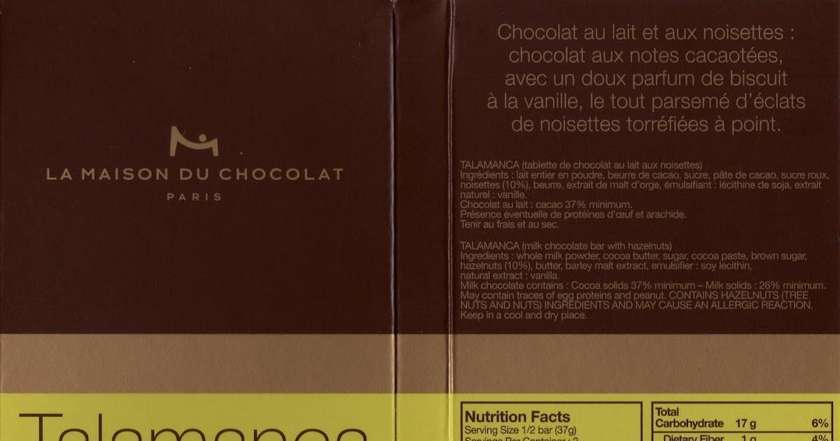 la maison du chocolat talamanca lait eclats de noisettes 37 tablette de choc