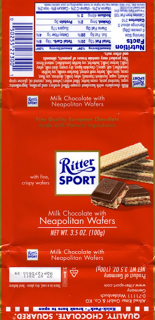 tablette de chocolat lait gourmand ritter sport lait gaufrette crème de noisettes