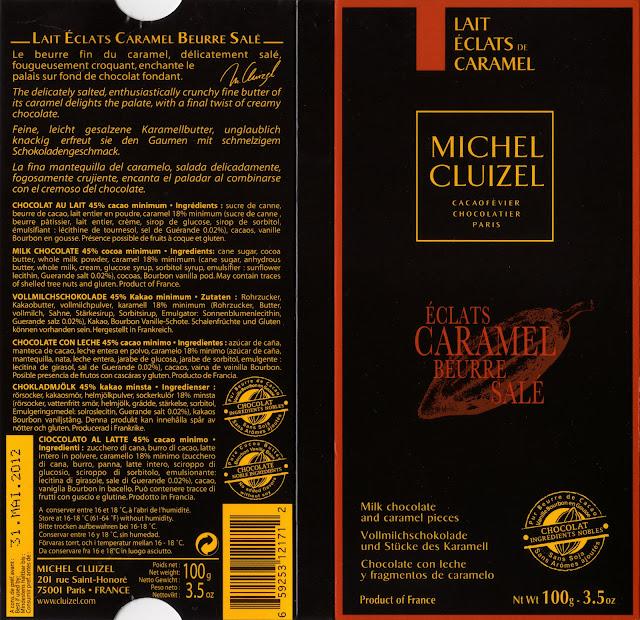 tablette de chocolat lait gourmand michel cluizel eclats caramel beurre salé