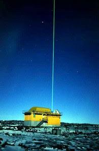Fascio di luce laser del Lidar