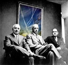 I tre fondatori della congregazione dei 'Testimoni di Geova'