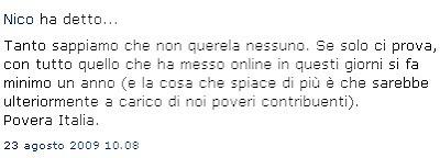 Nico scrive sul blog di Simone Angioni...
