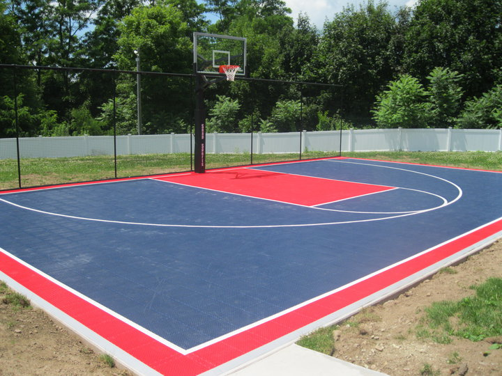 Mr Dunk 30 X 50 Soliders Home Basketball Court